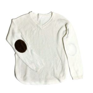 Ardene elbow patch ribbed knit sweater